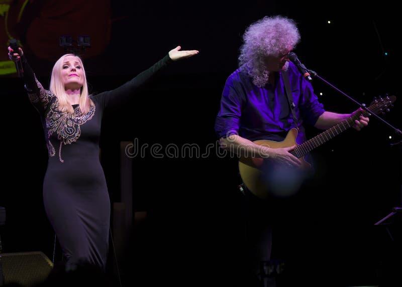 Concerto Brian May & Kelly Wellis The Voice fotografia stock libera da diritti
