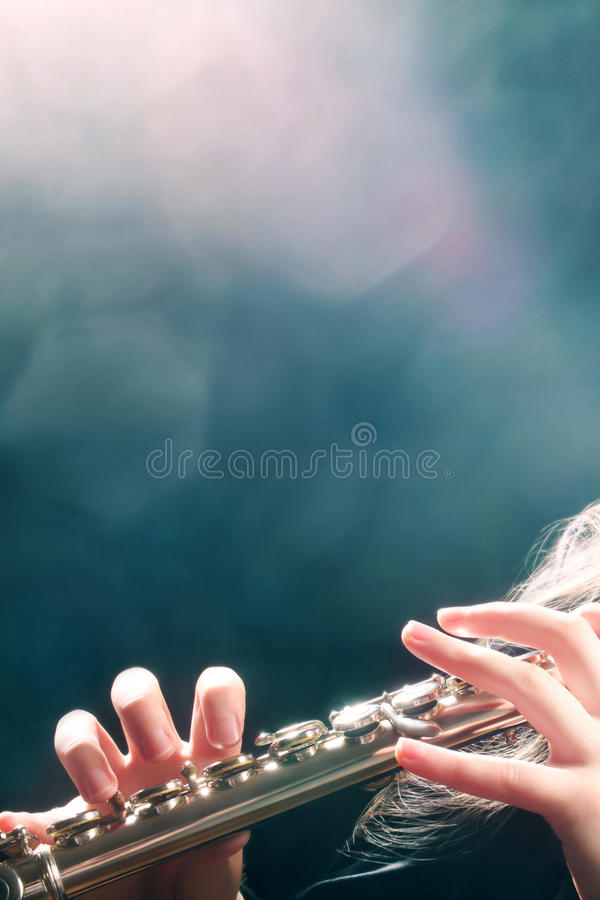 Concerto da música da flauta imagens de stock royalty free