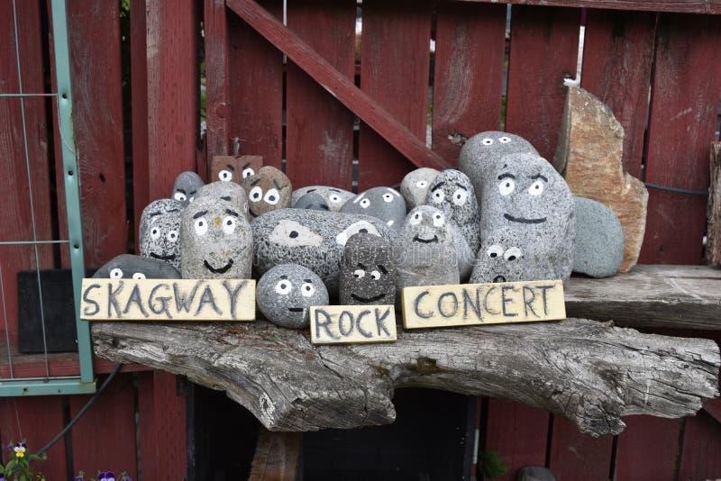 Concerto de rocha de Skagway imagens de stock royalty free