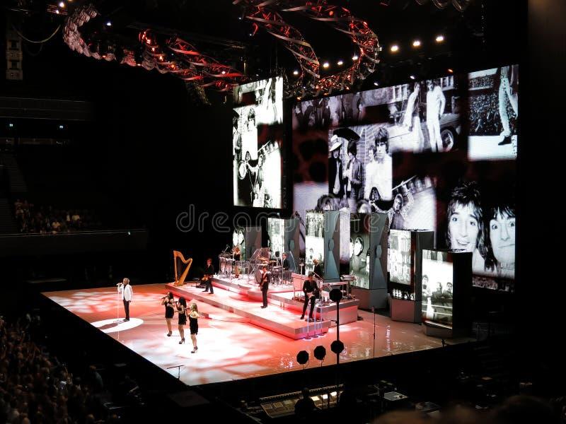 Concerto de Rod Stewart em Amsterdão foto de stock