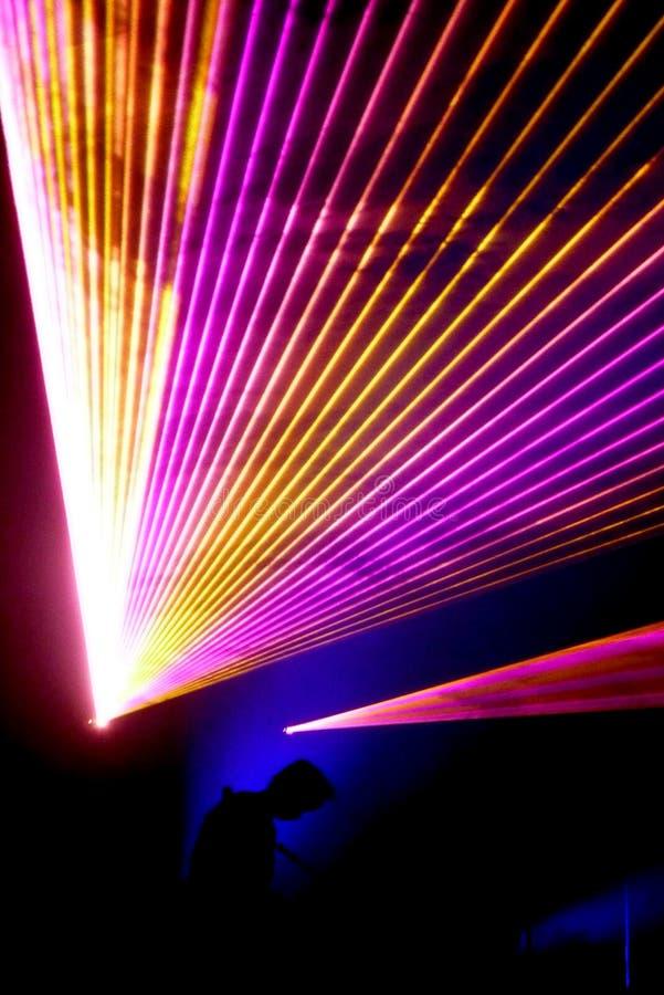 Concerto del laser immagini stock