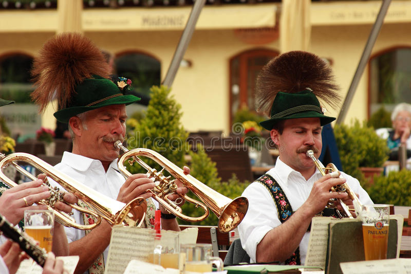 Concerto dell'aria aperta del Bavarian fotografia stock