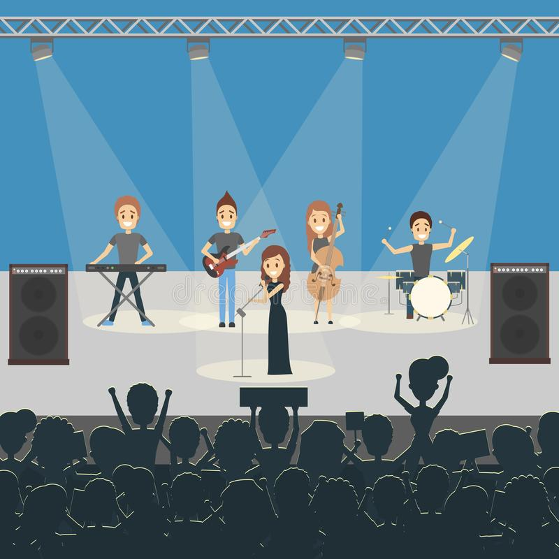 Concerto della banda di musica illustrazione di stock