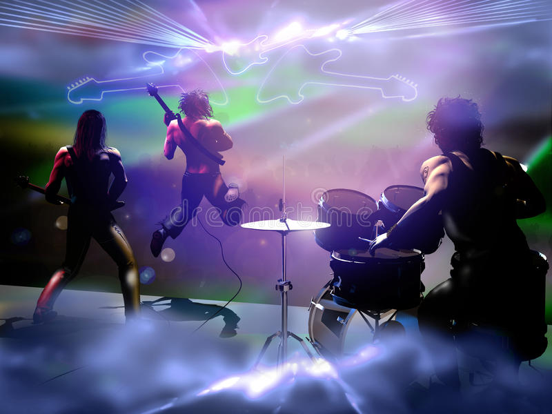 Concerto della banda rock illustrazione vettoriale