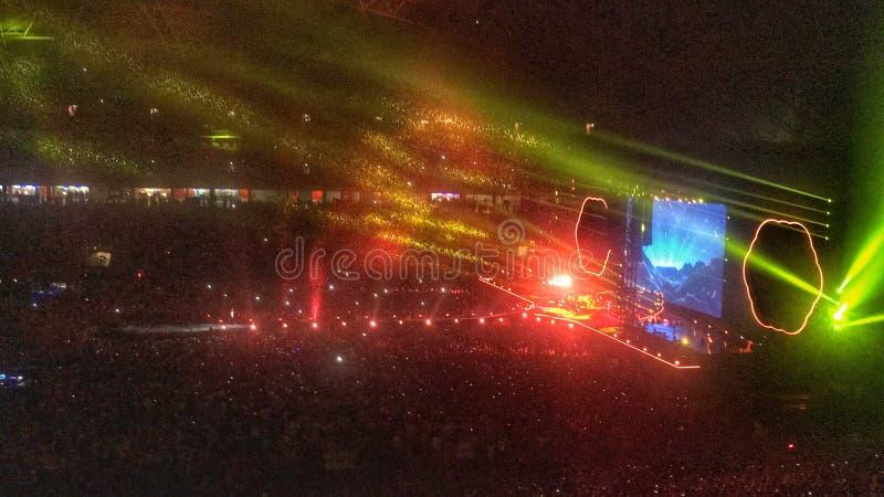 Concerto di Coldplay immagini stock libere da diritti