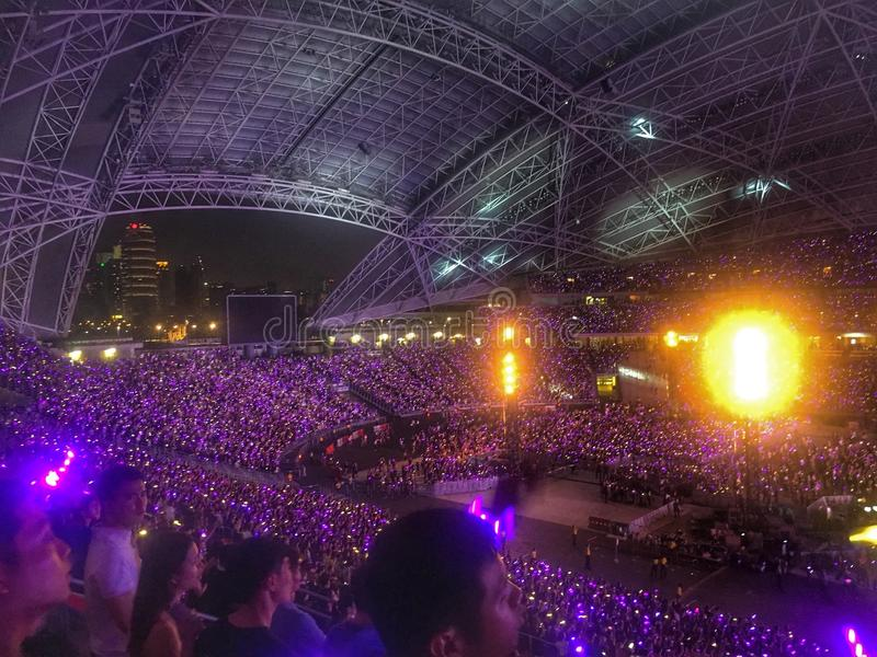 Concerto di Coldplay fotografie stock