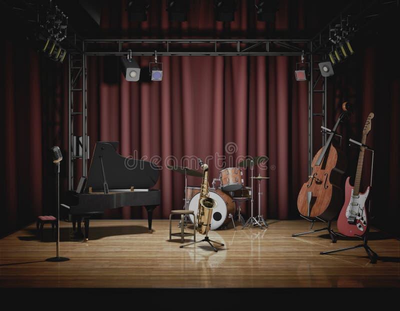 Concerto di jazz illustrazione vettoriale