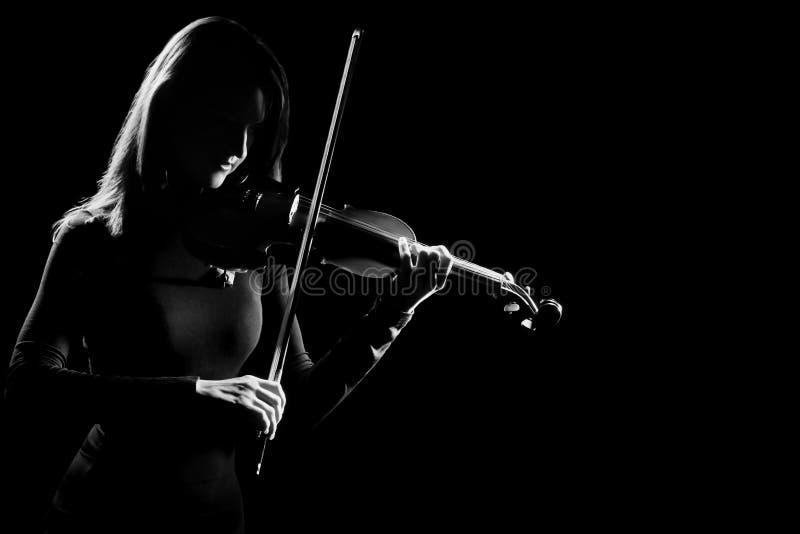 Concerto di musica classica del violinista del giocatore del violino fotografie stock libere da diritti