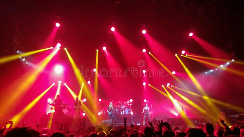 Concerto di Nightwish fotografie stock