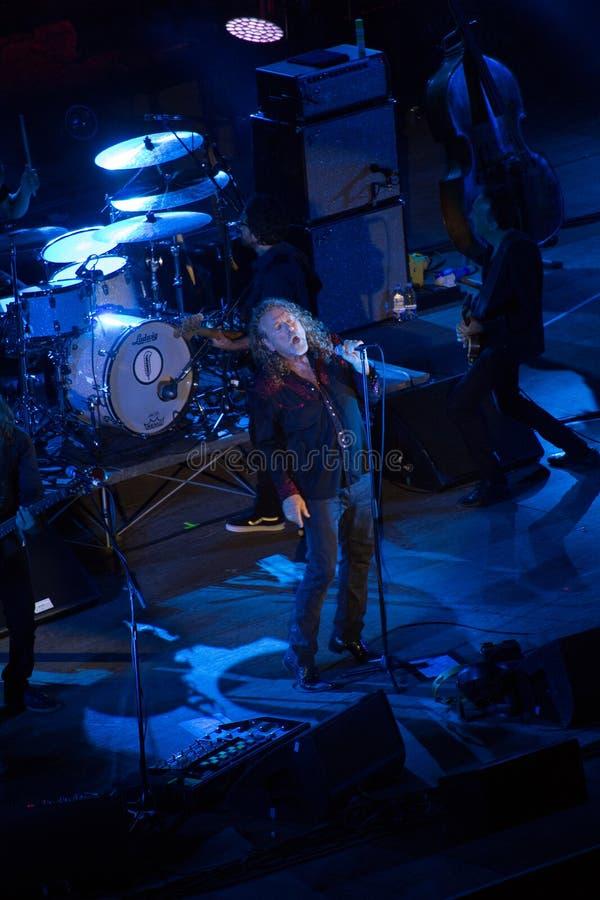 Concerto di Robert Plant al teatro antico di Taormina il 24 luglio 2016 fotografie stock libere da diritti