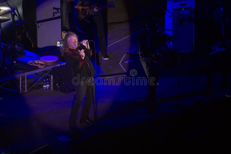 Concerto di Robert Plant al teatro antico di Taormina il 24 luglio 2016 immagine stock