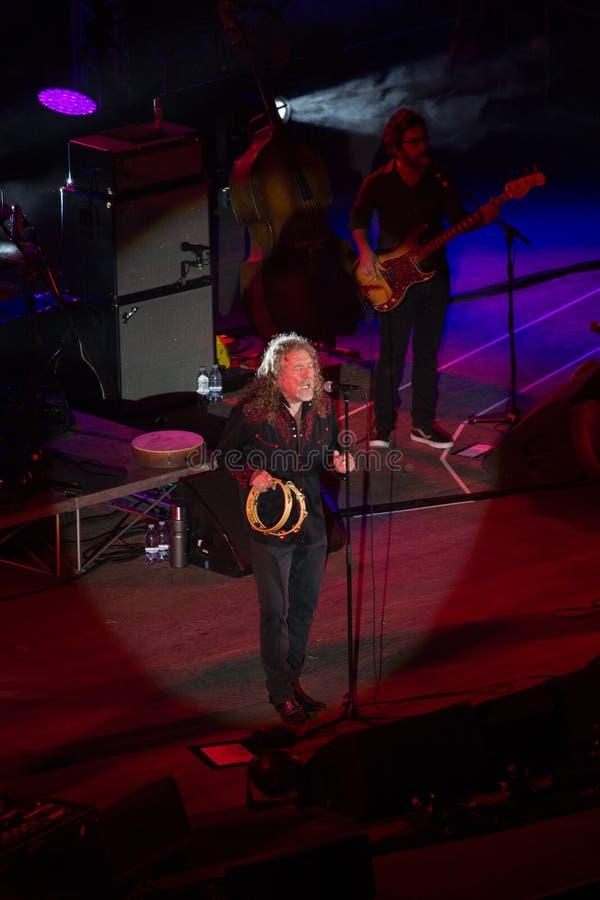 Concerto di Robert Plant al teatro antico di Taormina il 24 luglio 2016 immagini stock