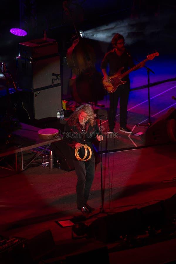 Concerto di Robert Plant al teatro antico di Taormina il 24 luglio 2016 fotografia stock