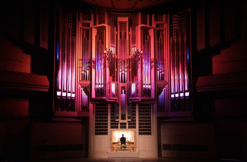 Concerto do órgão imagens de stock