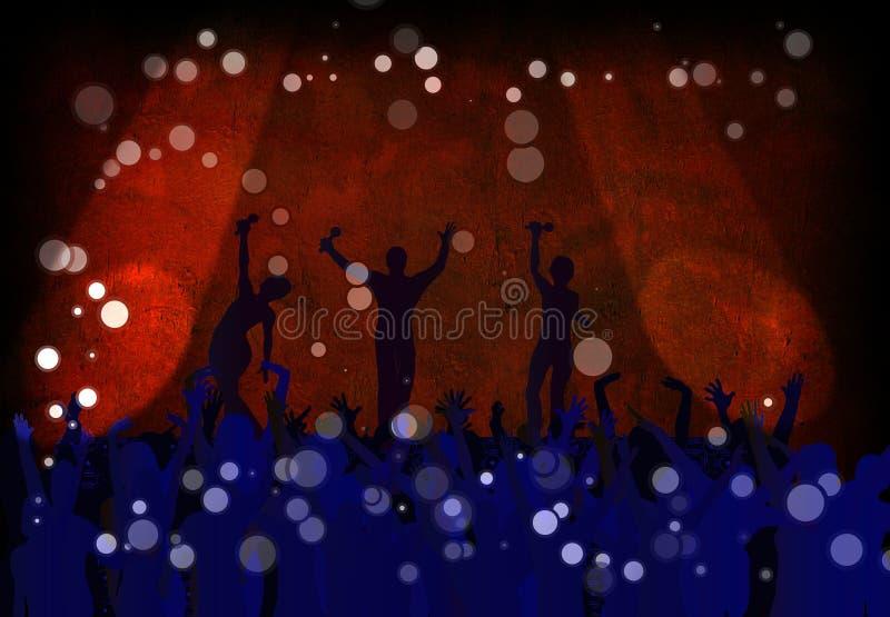Concerto do clube ilustração do vetor