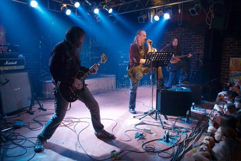 Concerto do grupo de rock fotografia de stock