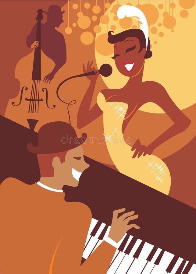Concerto do jazz ilustração stock