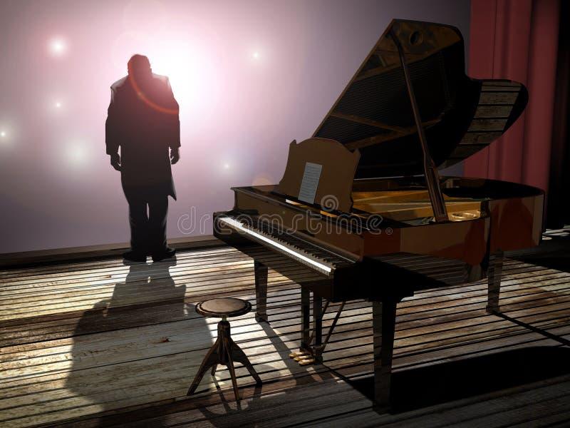 Concerto do piano ilustração do vetor