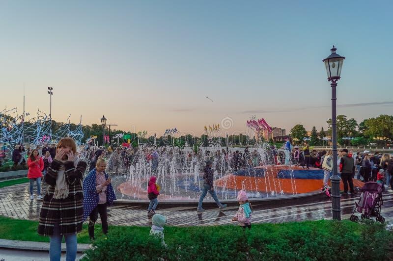 Concerto a Kaliningrad Oberteich fotografie stock libere da diritti
