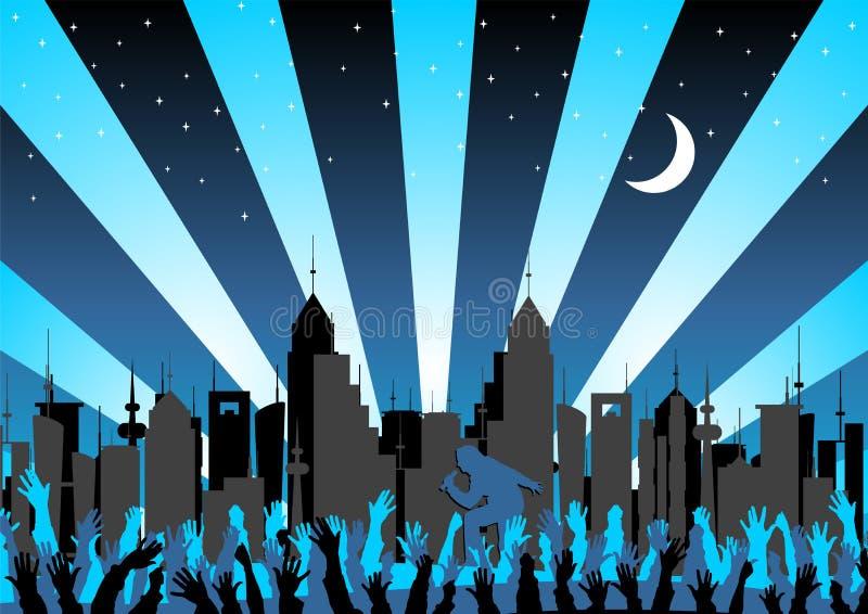 Concerto na cidade ilustração royalty free