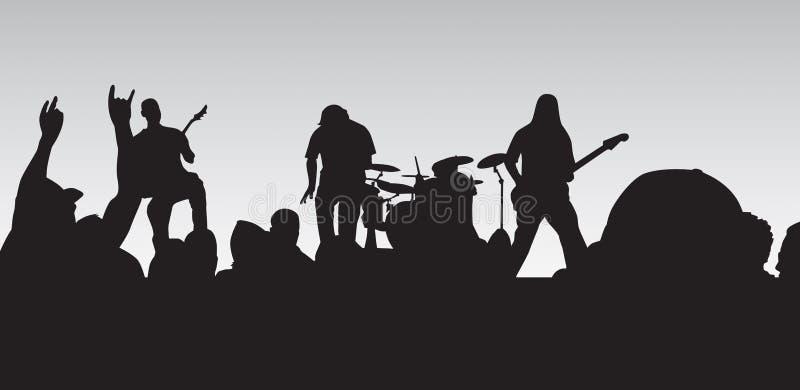 Concerto punk illustrazione di stock