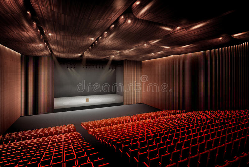 Concertzaal stock illustratie