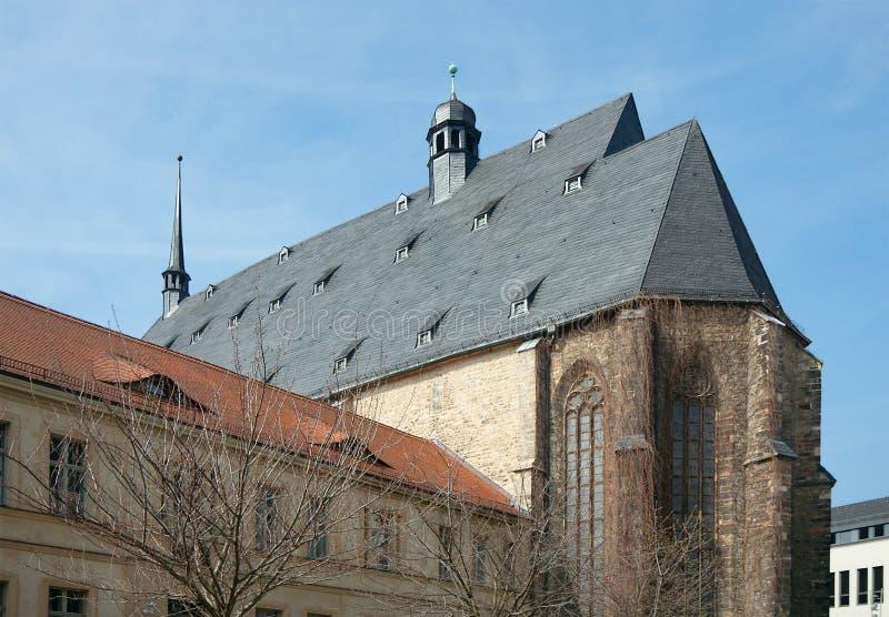 Concertzaal st-Ulrich-Kirche, Halle, Duitsland royalty-vrije stock foto