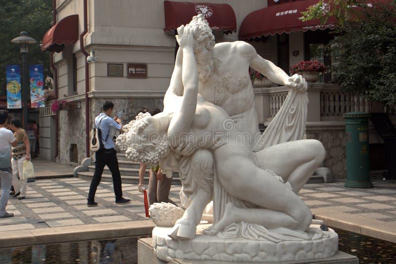 Concesión italiana anterior, Tianjin, China imagen de archivo libre de regalías