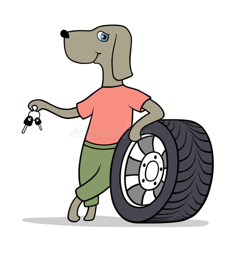 Concesionario de automóviles libre illustration