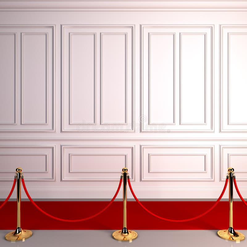 Concesiones del extracto de la alfombra roja. ilustración del vector