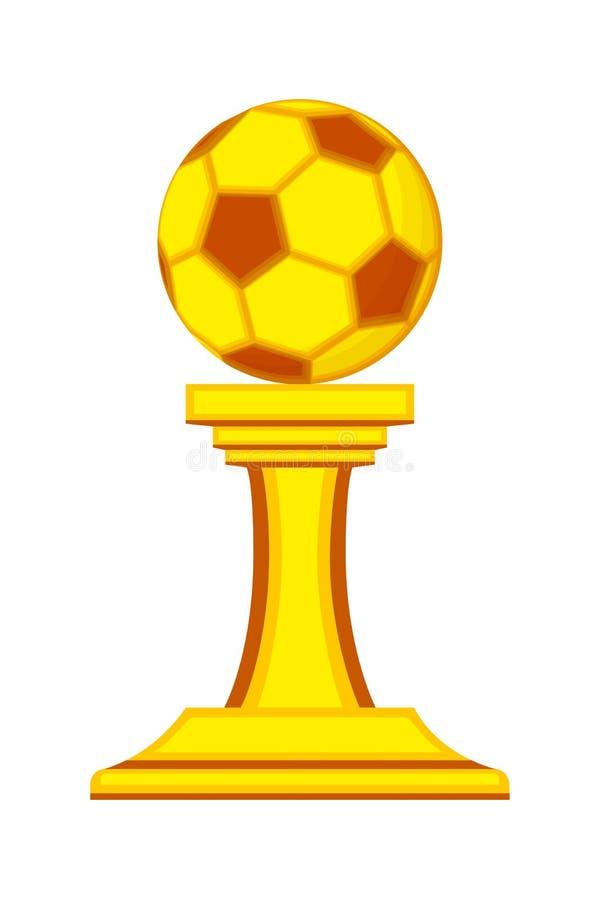 Concessão colorida do vencedor da bola de futebol dos desenhos animados ilustração do vetor