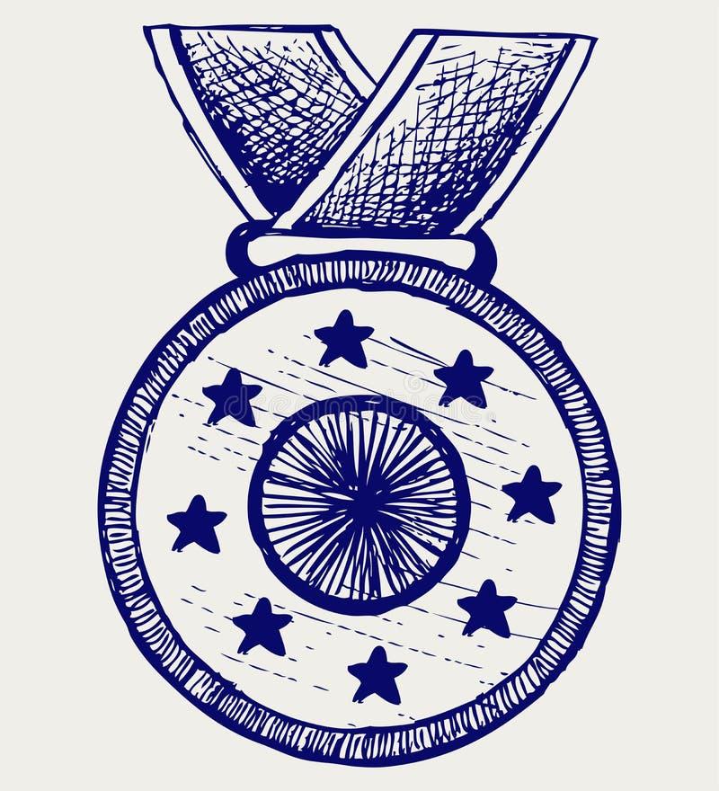 Concessão da medalha ilustração royalty free