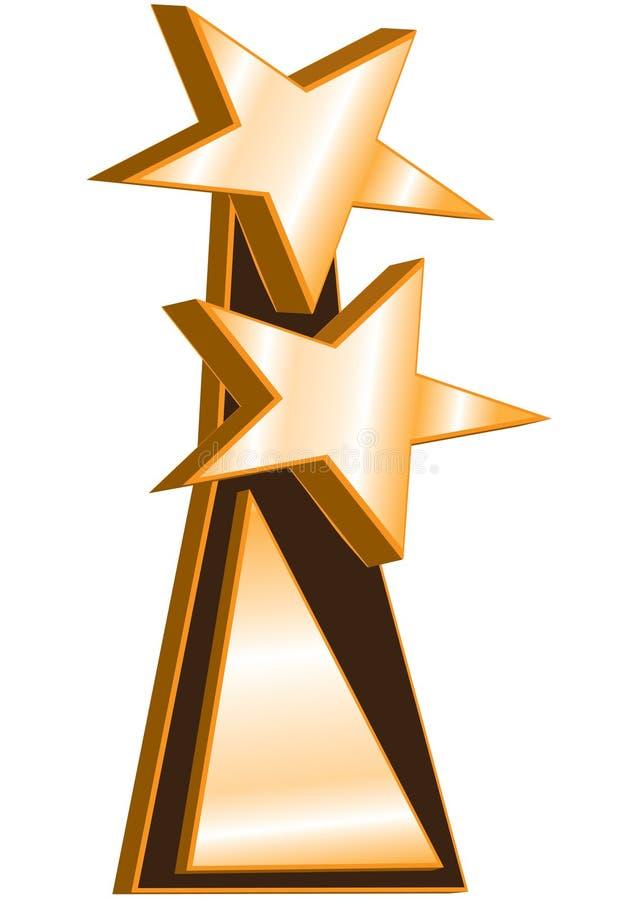 Concessão do vencedor das estrelas dobro ilustração stock