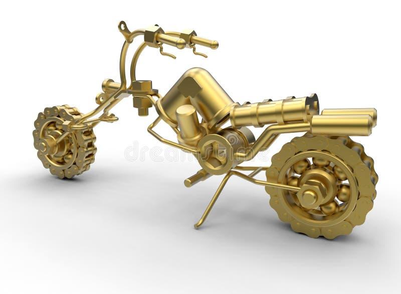 Concessão dourada da motocicleta ilustração do vetor