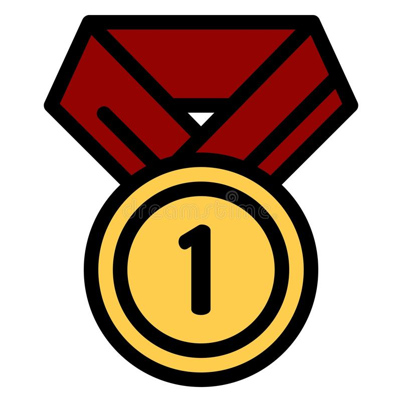 Concessão dourada do desafio do jogo do esporte Fita vermelha Isolado Olive Branch ilustração royalty free