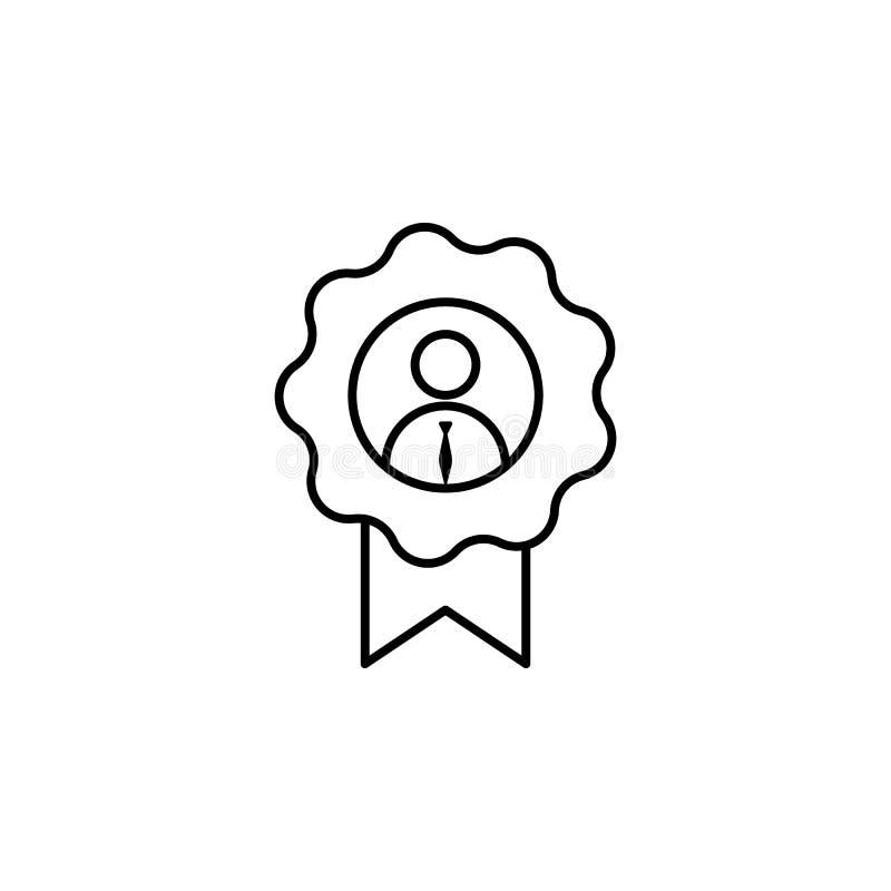 Concessão, empregado, ícone do trabalhador no fundo branco Pode ser usado para a Web, logotipo, app móvel, UI, UX ilustração stock