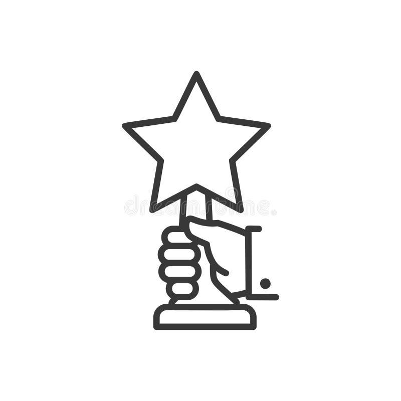 Concessão - linha único ícone isolado do projeto ilustração royalty free