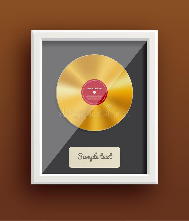 Concessão retro eps 10 da música do projeto do disco do vinil ilustração royalty free