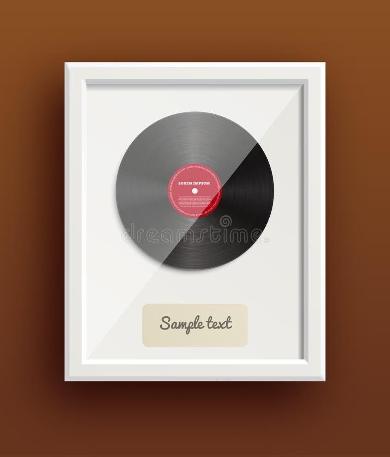 Concessão retro eps 10 da música do projeto do disco do vinil ilustração do vetor