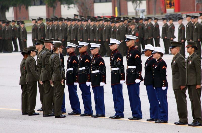 Concessões do recruta da honra da graduação do USMC fotos de stock