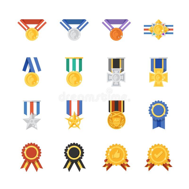 Concessões e medalha ilustração stock