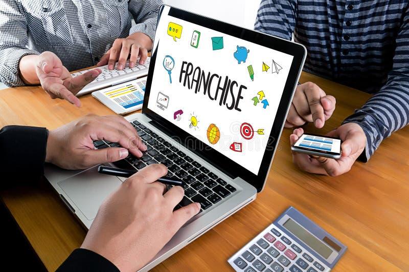 CONCESSIE Marketing het Brandmerken en détail en Bedrijfs het Werkopdracht C stock foto's