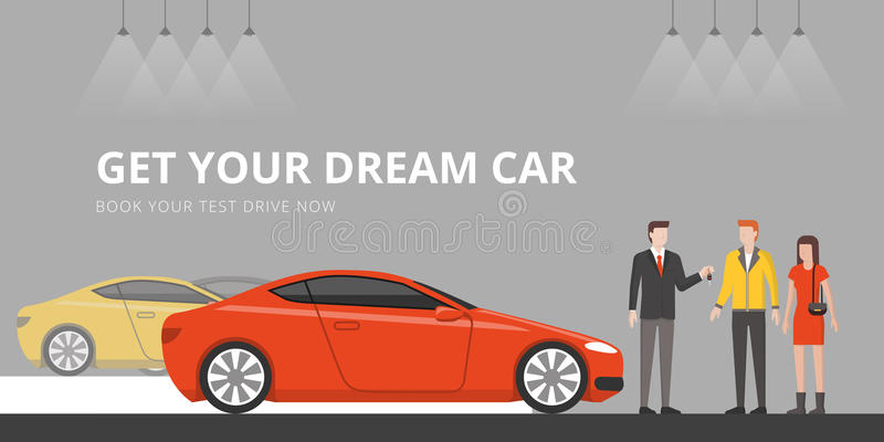 Concessionário automóvel ilustração royalty free