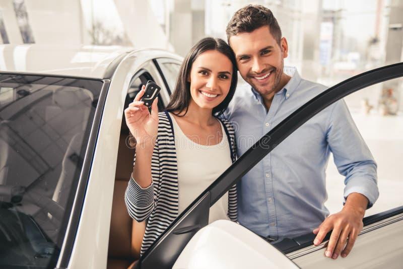 Concessionário automóvel de visita imagem de stock royalty free