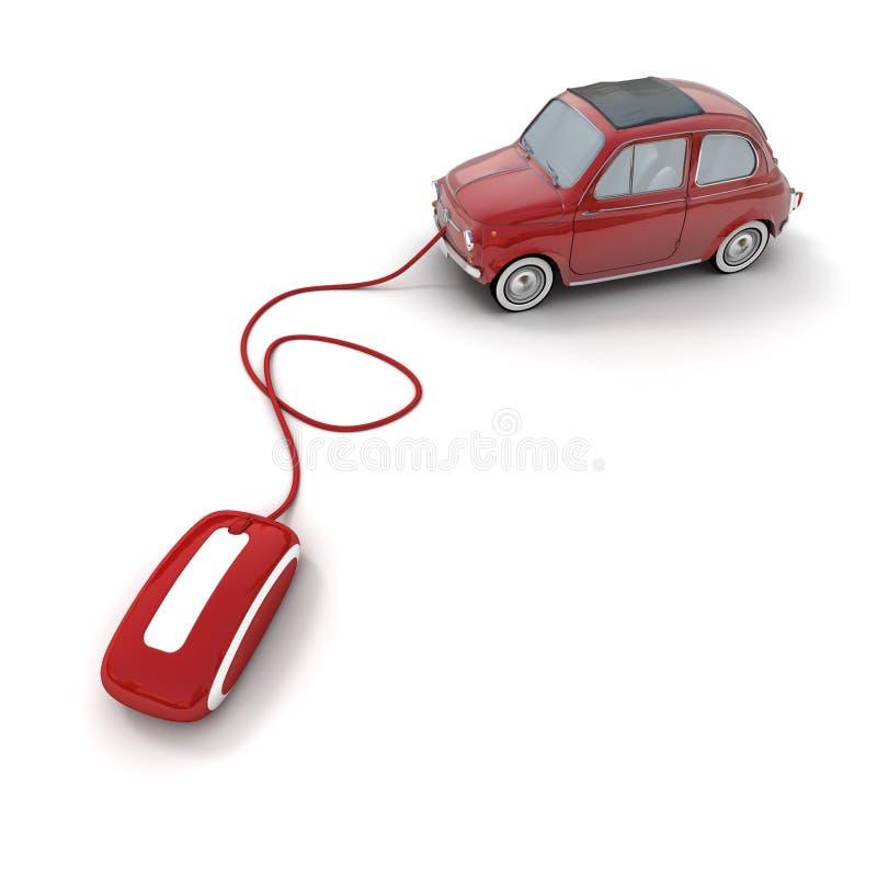 Download Concessionário Automóvel Em Linha Ilustração Stock - Ilustração de vermelho, vintage: 10068133