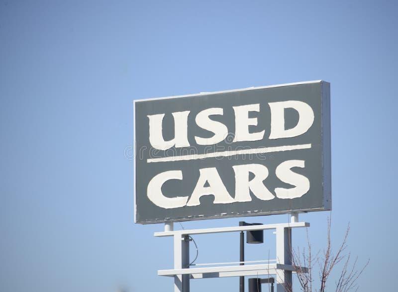 Concessionário automóvel usado imagem de stock royalty free