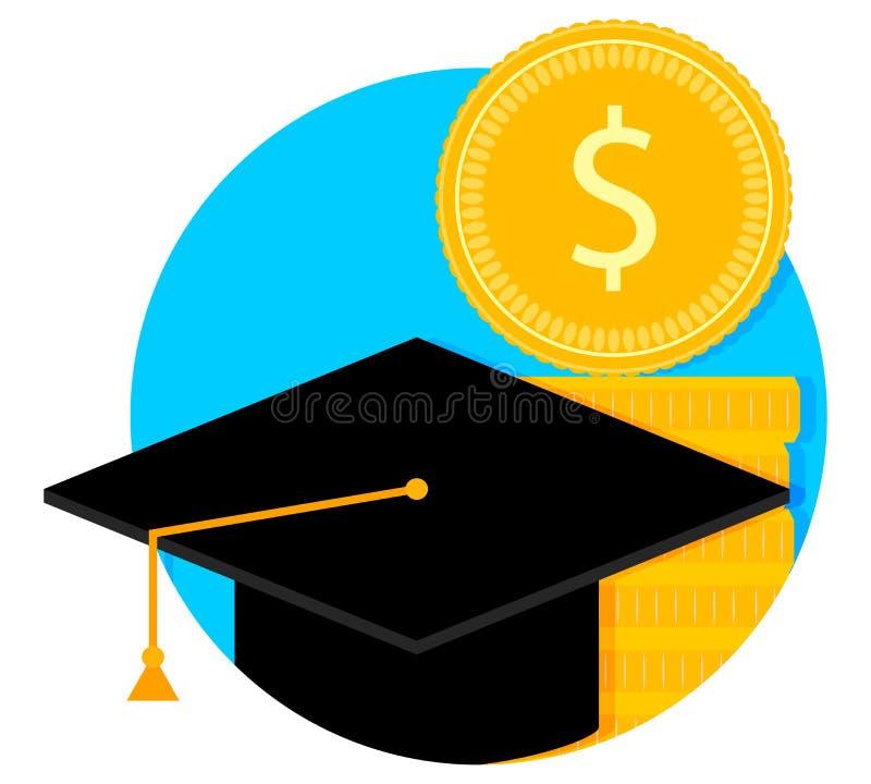 Concession de bourse et d'étude illustration de vecteur
