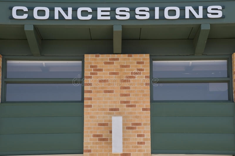 Concession stand royalty free stock image