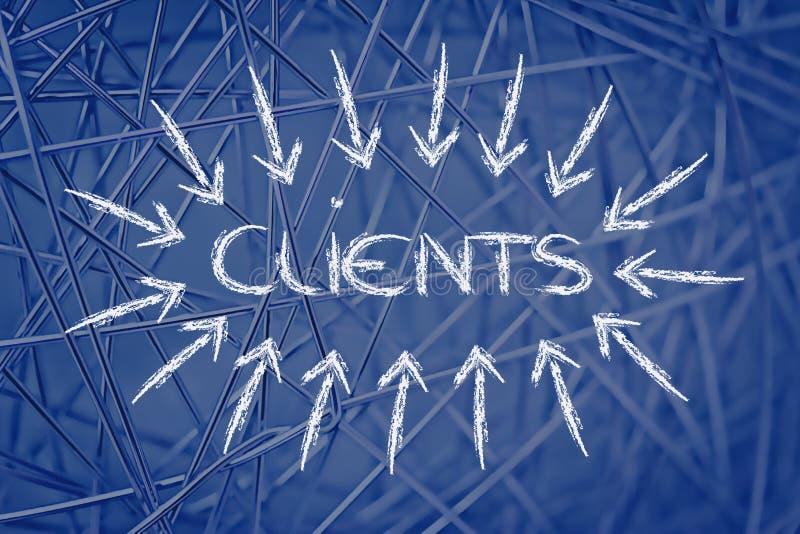 Concetti chiave di affari: Cliients immagine stock