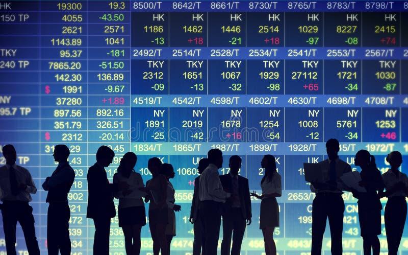 Concetti commerciali del mercato di borsa valori fotografia stock